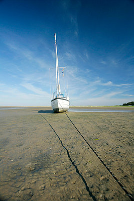 boat waiting for the sea (holland) - p5670670 by Olivier Foulon