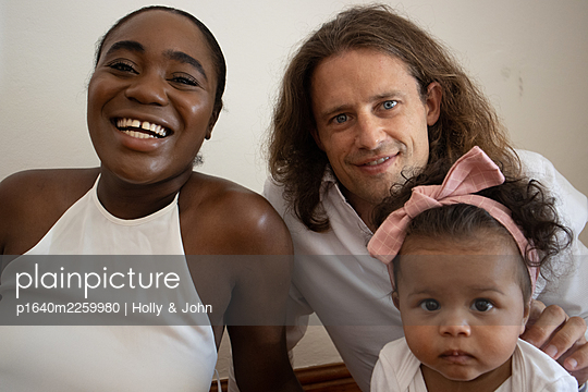 Multi ethnic family with toddler girl - p1640m2259980 by Holly & John