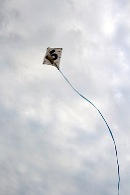Kite in the sky - p3882426 by Anne Kathrin Greiner