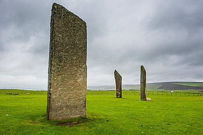 The Standing Stones of Stenness, UNESCO World Heritage Site, Orkney Islands, Scotland, United Kingdom, Europe - p871m1506371 by Michael Runkel