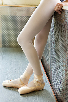 Legs of a ballerina - p9245544f by Image Source