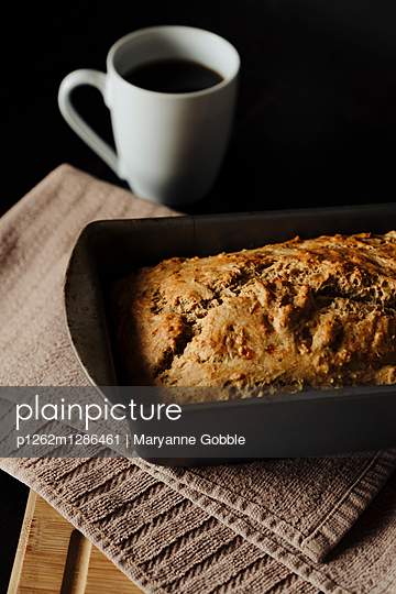 Banana Bread and Coffee - p1262m1286461 by Maryanne Gobble