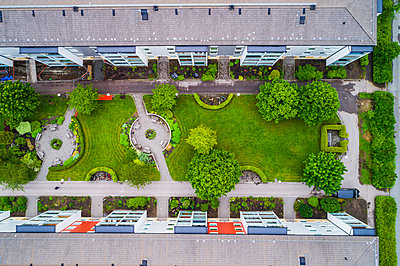 Aerial view of blocks of flats - p312m2145716 by Mikael Svensson