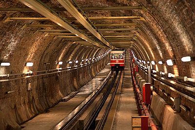 Tunel Funicular, Istanbul, Turkey - p651m860923 by Jon Arnold