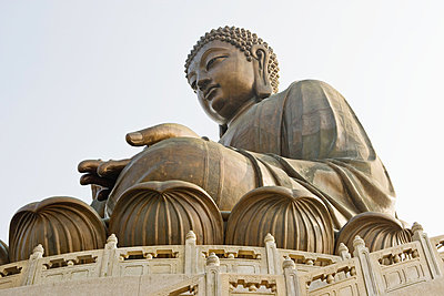 Giant buddha at po lin monastery - p9246169f by Image Source