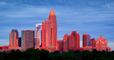 Charlotte Skyline - p1480m1573706 by Brian W. Downs