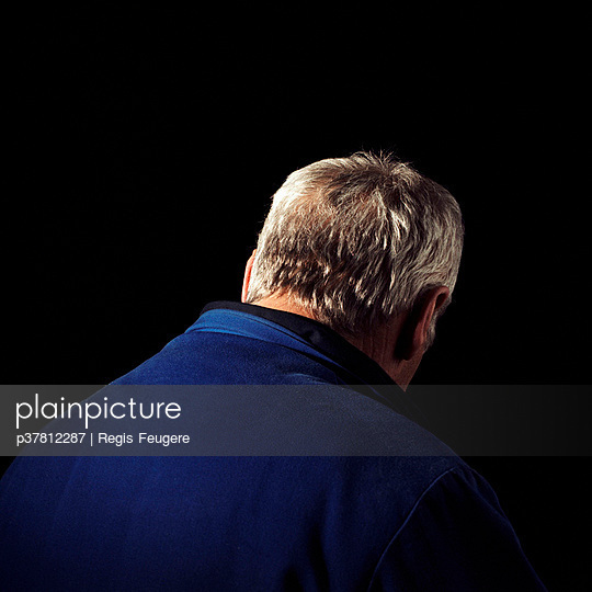 Man with grey hair - p37812287 by Regis Feugere