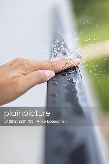 Water droplets - p1621m2291759 by Anke Doerschlen