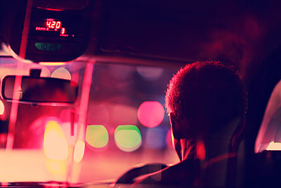 Cab Ride At Night - p1072m1348997 by Alicia Light