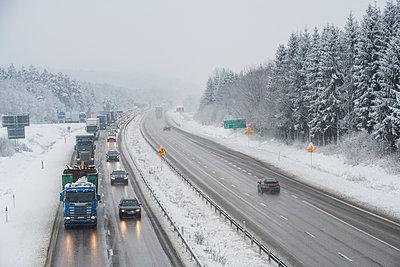 Winter motorway - p312m2050071 by Mikael Svensson