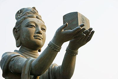 Statue near tian tan buddha - p9246137f by Image Source