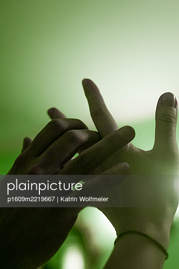 Hands touching each other tenderly - p1609m2219667 by Katrin Wolfmeier