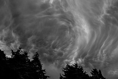 Swirling Storm Clouds - p1262m1063981 by Maryanne Gobble