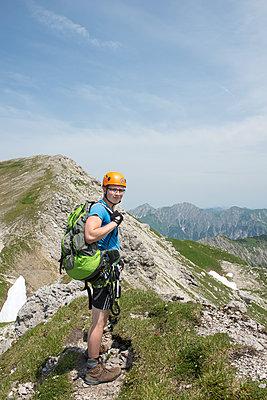 Klettern, Nebelhorn, Bayern - p427m1072747 von R. Mohr