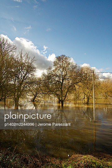 France, Flood - p1402m2244996 by Jerome Paressant