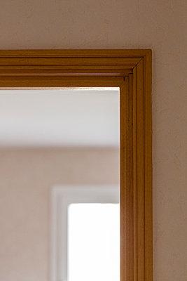Wooden door frame and window - p1682m2260751 by Régine Heintz