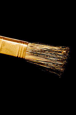 Golden brush - p451m1017399 by Anja Weber-Decker