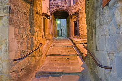 Old Lane At Night, Annot, France - p1403m1482728 by Education Images