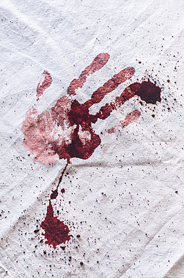 Bloody handprint - p971m1550366 by Reilika Landen