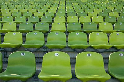 Empty stadium seats - p30020543f by Tom Hoenig