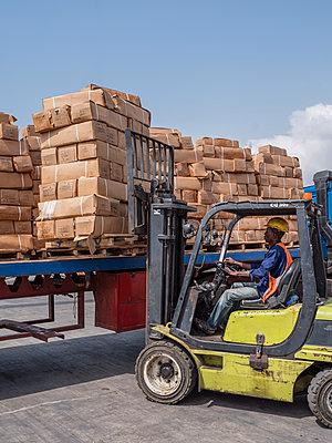 Forklift driver - p390m1586475 by Frank Herfort