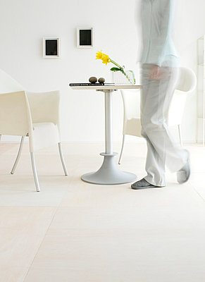 Chair And Table Setting In White - p307m660297f by AFLO