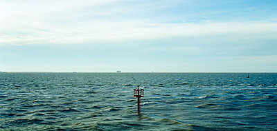 Navigation light at sea - p1132m925602 by Mischa Keijser