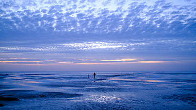 Germany, Schleswig-Holstein, St. Peter-Ording, Mut flat walk  - p1600m2257612 by Ole Spata