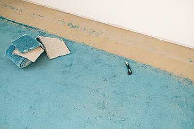 Removing old carpeting - p300m2139709 by Christophe Papke