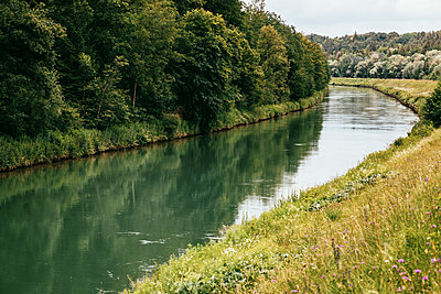 Along the Isar canal in Munich Pullach - p728m1585120 by Peter Nitsch