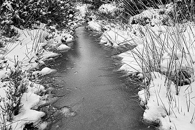 Vereister Bach im Winter - p1090m1558695 von Gavin Withey