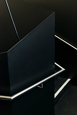 Staircase in black - p335m1152302 by Andreas Körner