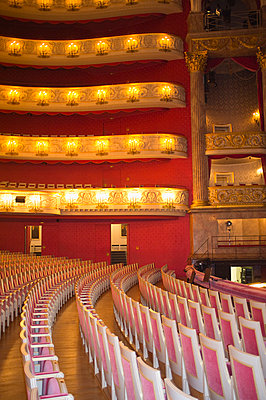 Seats balconies Interior Vienna opera house - p609m1017598 by WRIGHT