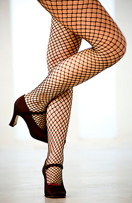 Fishnet stockings - p6180129 by Capturaimages