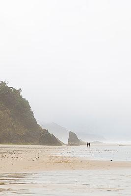 Spaziergang an der Küste - p756m2053401 von Bénédicte Lassalle