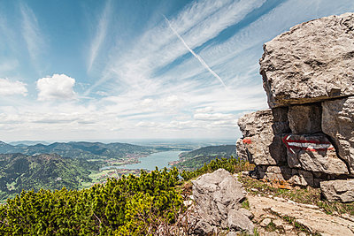 Lake Tegernesee from Mt Wallberg - p429m884520f by Manuel Sulzer