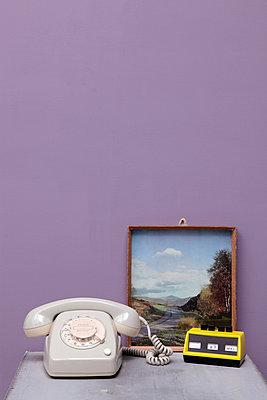 Telefon und Kalender - p237m911668 von Thordis Rüggeberg
