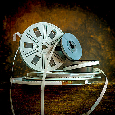 Vintage Super 8 film spools - p813m1222298 by B.Jaubert