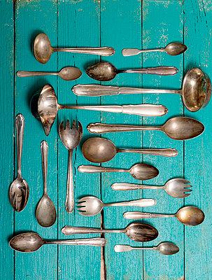 Silver cutlery - p451m984158 by Anja Weber-Decker
