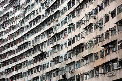 Densely populated housing estate, apartment building, Quarry Bay, Hong Kong Island, Hong Kong, China, Asia - p871m1498494 by Wendy Connett