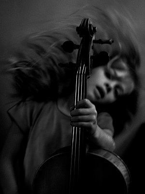 Girl with cello - p896m835653 by Richard Brocken