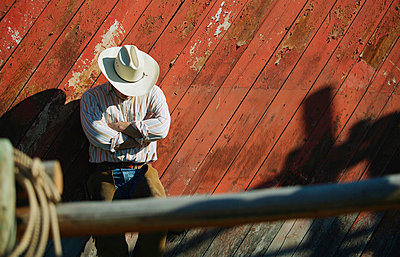 Cowboy rests - p4420291f by Design Pics
