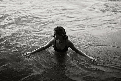 Girl in the Water - p1503m2015911 by Deb Schwedhelm