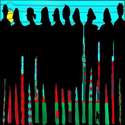 Menschenmenge - p979m2042918 von Ruth Kumpernatz
