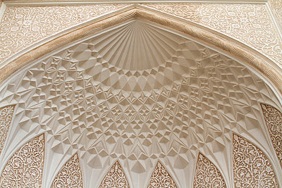 Wall decoration of the Yazd water museum, Yazd, Iran - p798m1034730 by Florian Loebermann