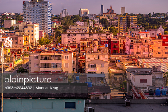 View of the city with high rises, Cuba - p393m2244832 by Manuel Krug