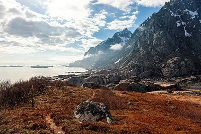 Lichtstimmung nach einem Regenschauer auf den Lofoten - p1168m1590063 von Thomas Günther