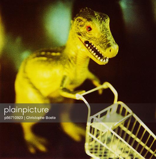 Dinosaur shopping - p56710923 by Christophe Boete