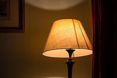 Stehlampe, Bilderrahmen und Vorhang - p1057m1496861 von Stephen Shepherd