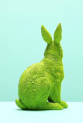 Grüner Hase von hinten - p237m1108733 von Thordis Rüggeberg